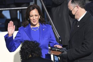 Kamala Harris oath of office. Photo courtesy of Wikimedia Commons.