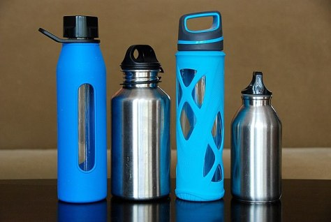 Using reusable water bottles can help reduce your plastic waste. Photo courtesy of Wikimedia Commons.