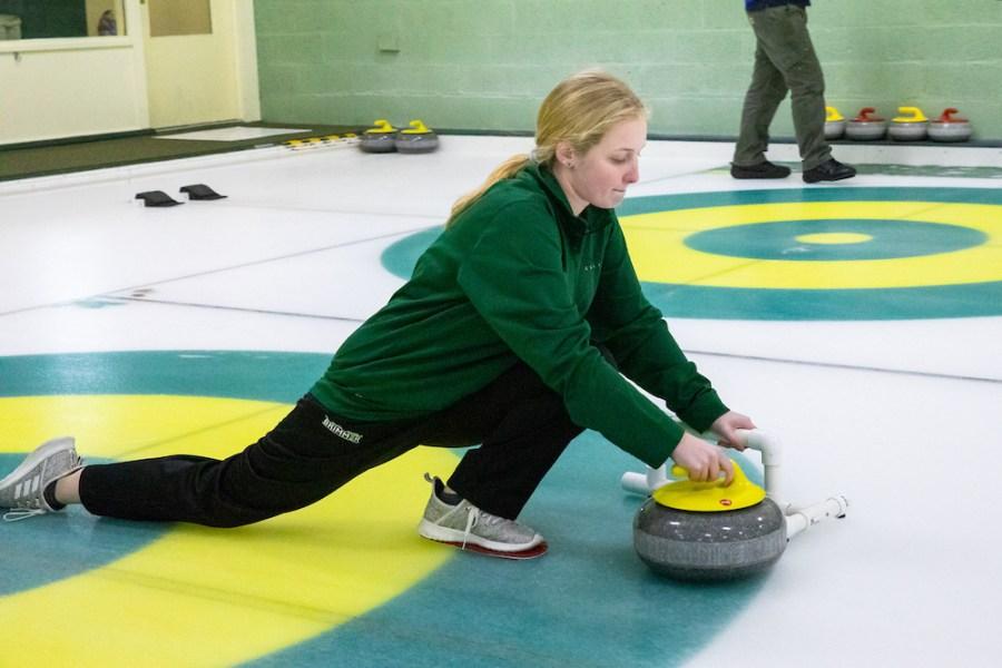 Me curling during the final Bonspiel.
