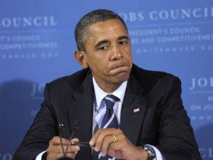 Obama Bites Lip