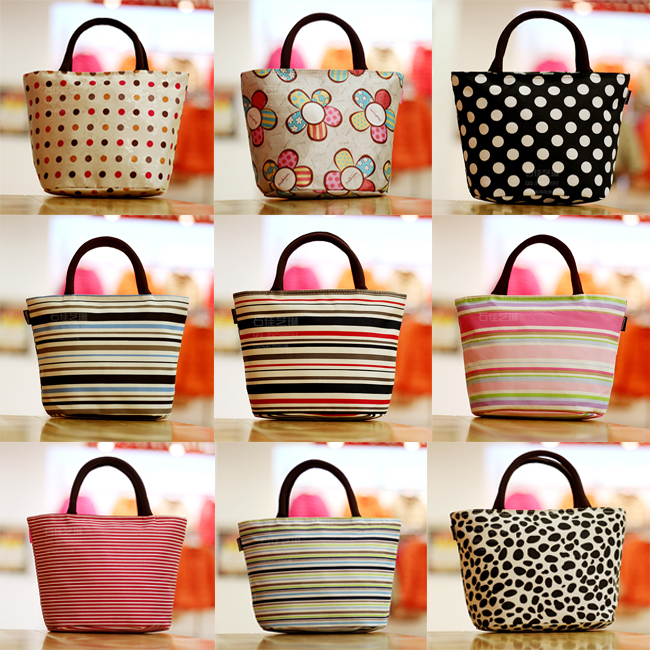 Korean-version-NEW-Small-canvas-bag-women-s-lunch-handbag-portable-small-lunch-box-bag-stripe