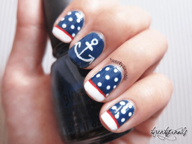 Ahoy Sailor Nautical Nail Art By Bio Sculpture Romance