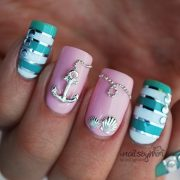 attractive design of nautical nail