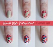 easy follow flower nail art