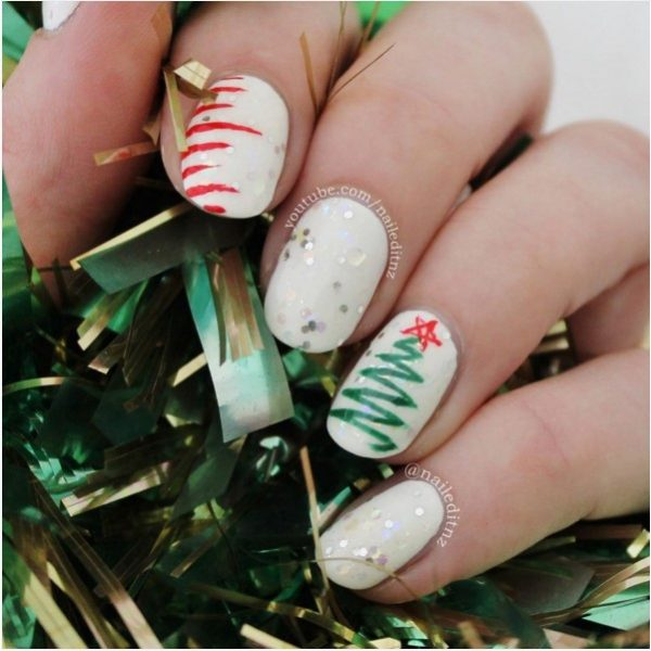 30 Totally Cute Christmas Designs For Short Nails  Be Modish