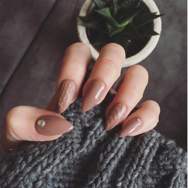 Brown Sweater Nail Art Bmodish