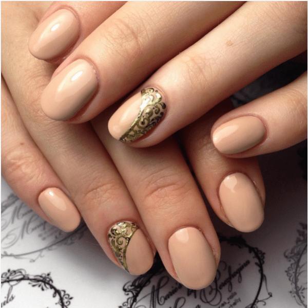 And Gold Nail Design Bmodish