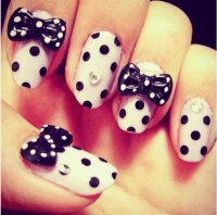 50 Cute Bow Nail Art Designs - Be Modish