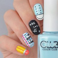 37 Super Cute Back To School Nail Art Designs - Be Modish