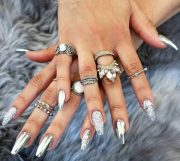 fabulous mirror nail design
