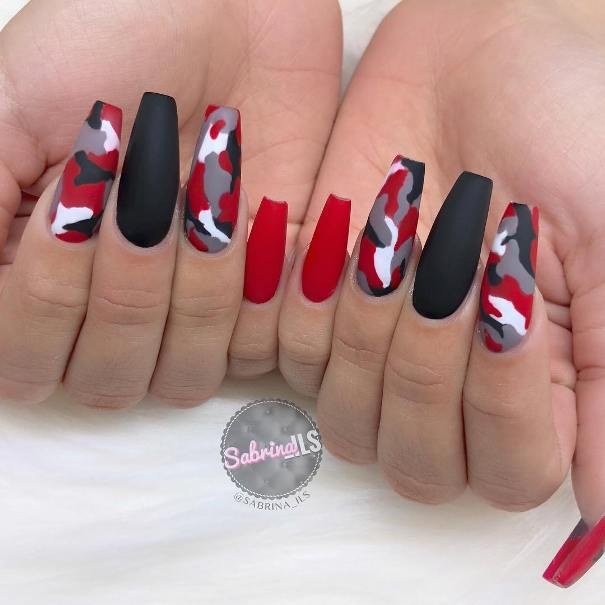 45+ Stylish Red and Black Nail Designs You'll Love