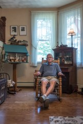 Jack with Doll House Built for his Wife, Mascoutah, Illinois, 2017