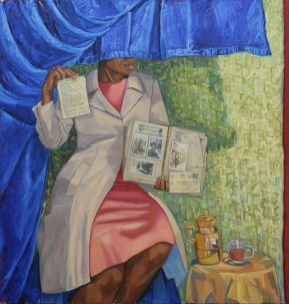 9.Mequitta Ahuja, Inheritance, Oil on Canvas, 63_X60_ 2018