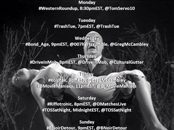 Livetweeting Schedule