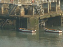 Rowing boats for the rope handlers