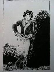 Jeanne et le rocher2