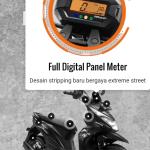 Ini Dia Honda BeAT Street, Model Layaknya X-ride Pakai Stang telajang, Spidometer Digital