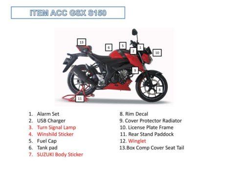 Harga 9 Aksesoris Suzuki Gsx S150 Bmspeed7 Com