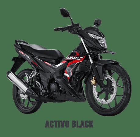 Honda Sonic 2018 Hitam Metalik/Activo Black