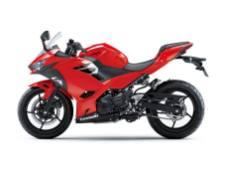 Ninja 250 Fi 2018 Merah Tampak Samping Kiri