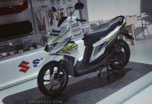 suzuki nex II putih hijau