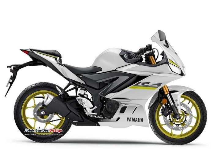 2019 Yamaha R3 White