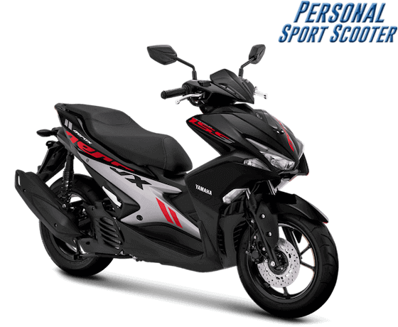 Yamaha Aerox 2019 Hitam Merah