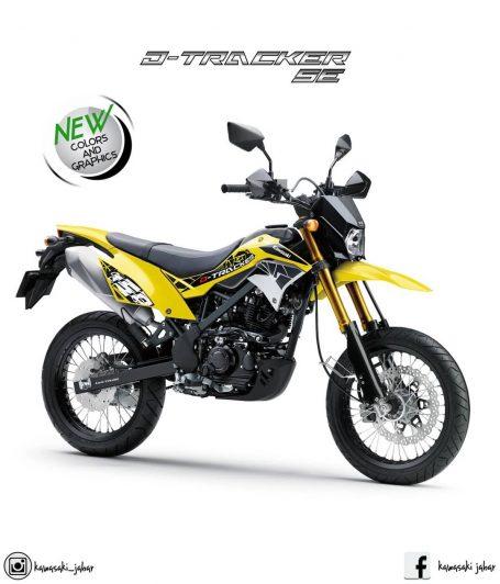 5 Warna Kawasaki D Tracker 150 Terbaru 2019 Tipe Standar Dan Se
