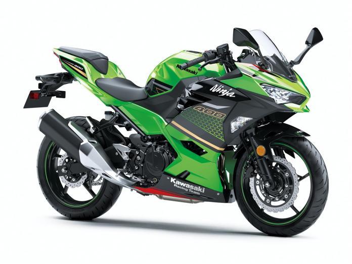 Kawasaki Ninja 400 2020 Metallic Spark Black / Lime Green