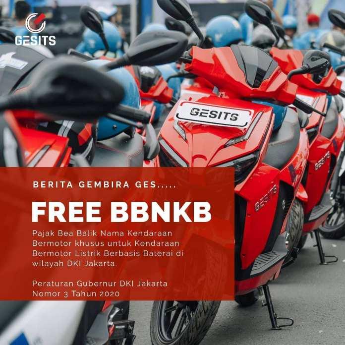 Bebas Pajak BBN Motor Listrik di Jakarta