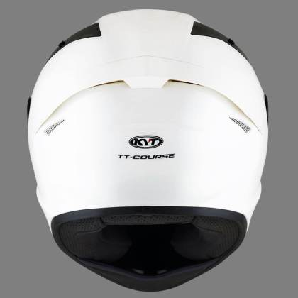 KYT TT Course Solid White
