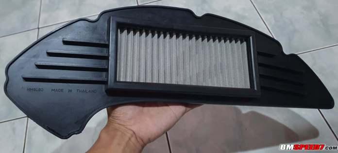 Filter udara Ferrox tampak belakang