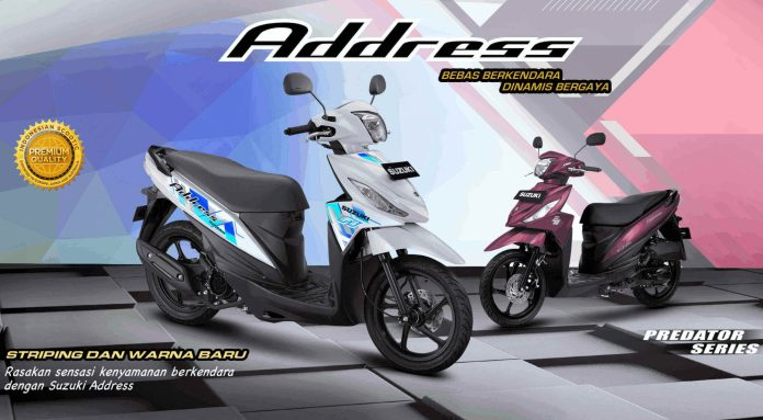 Warna dan Striping Baru Suzuki Address 2021