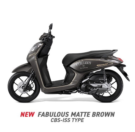 Honda Genio 2020 CBS-ISS Coklat Doff