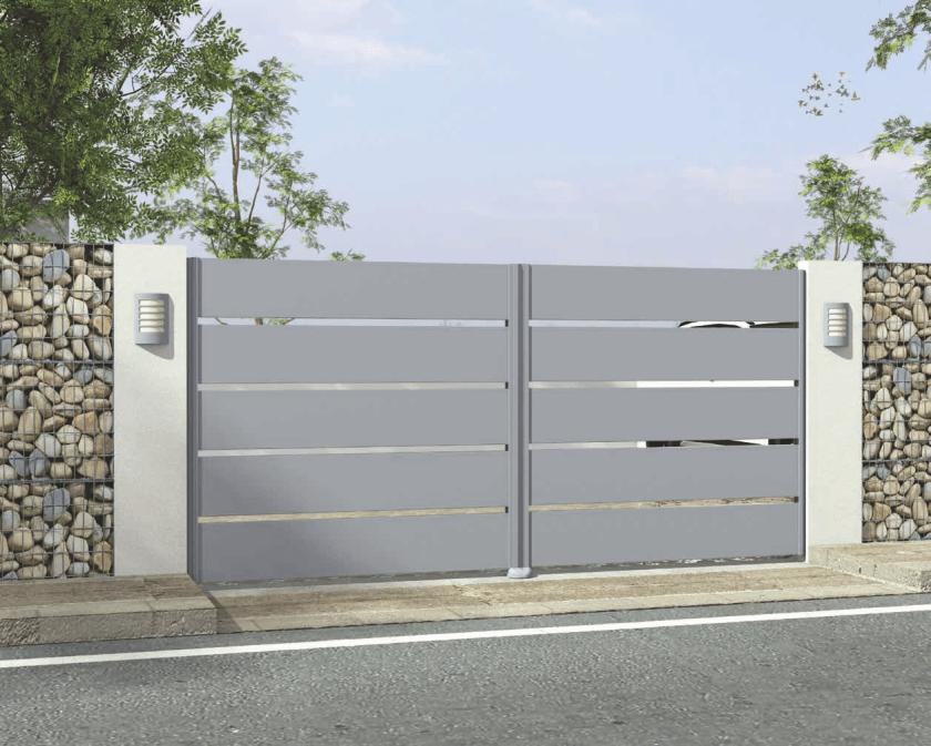 Pulverbeschichtetes Aluminiumtor der Home Serie mit offener Panel Motiv 24