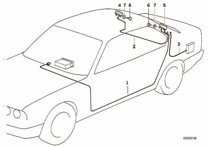 Single parts f antenna-diversity BMW E36 328i M52, Coupe