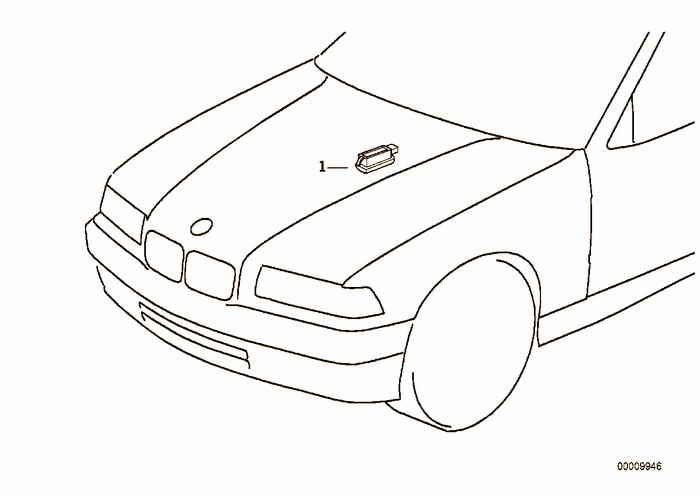 Engine compartment light BMW E36 316i M40, Sedan, Europe