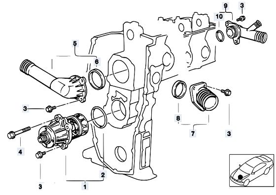 Bestseller: Bmw 318i E36 M40 1996 Engine Schema