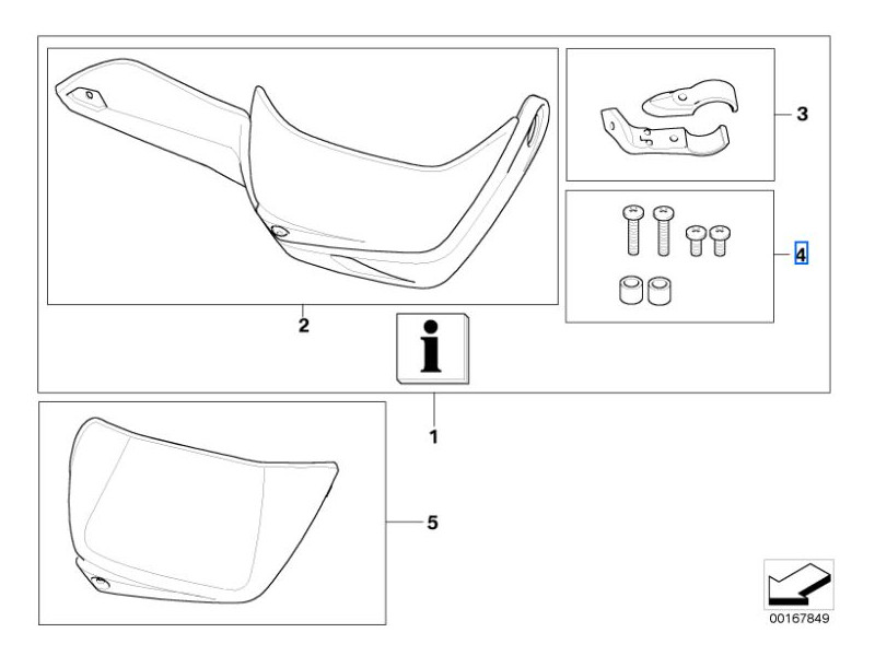 BMW Set Fixing parts Hand protections