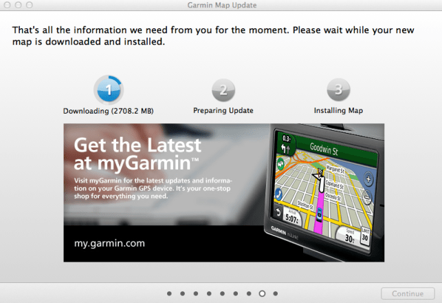 Garmin Map Update in Action