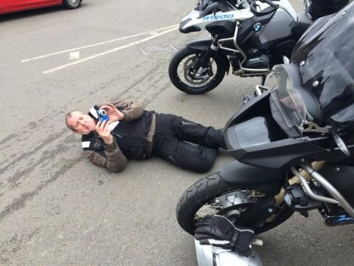 John photographing the Eleanor Cross!
