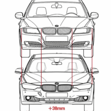 dimensioni bmw serie 3 2012 vs 2008