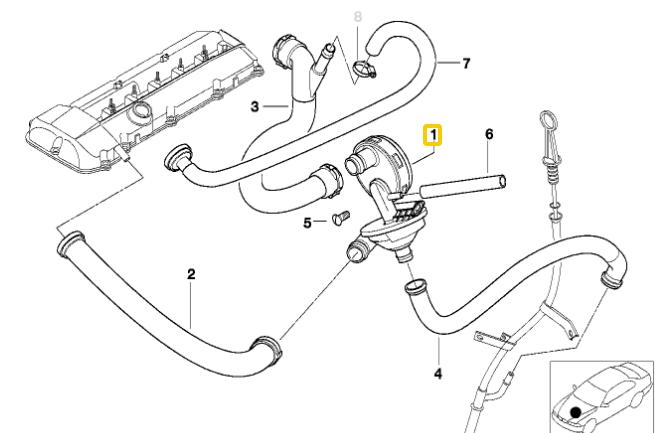 VALVULA PCV Válvula reguladora de presión E46 / E39 / E60