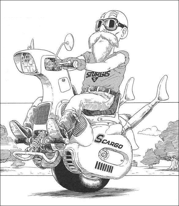 ドラゴンボール 転ばない バイク
