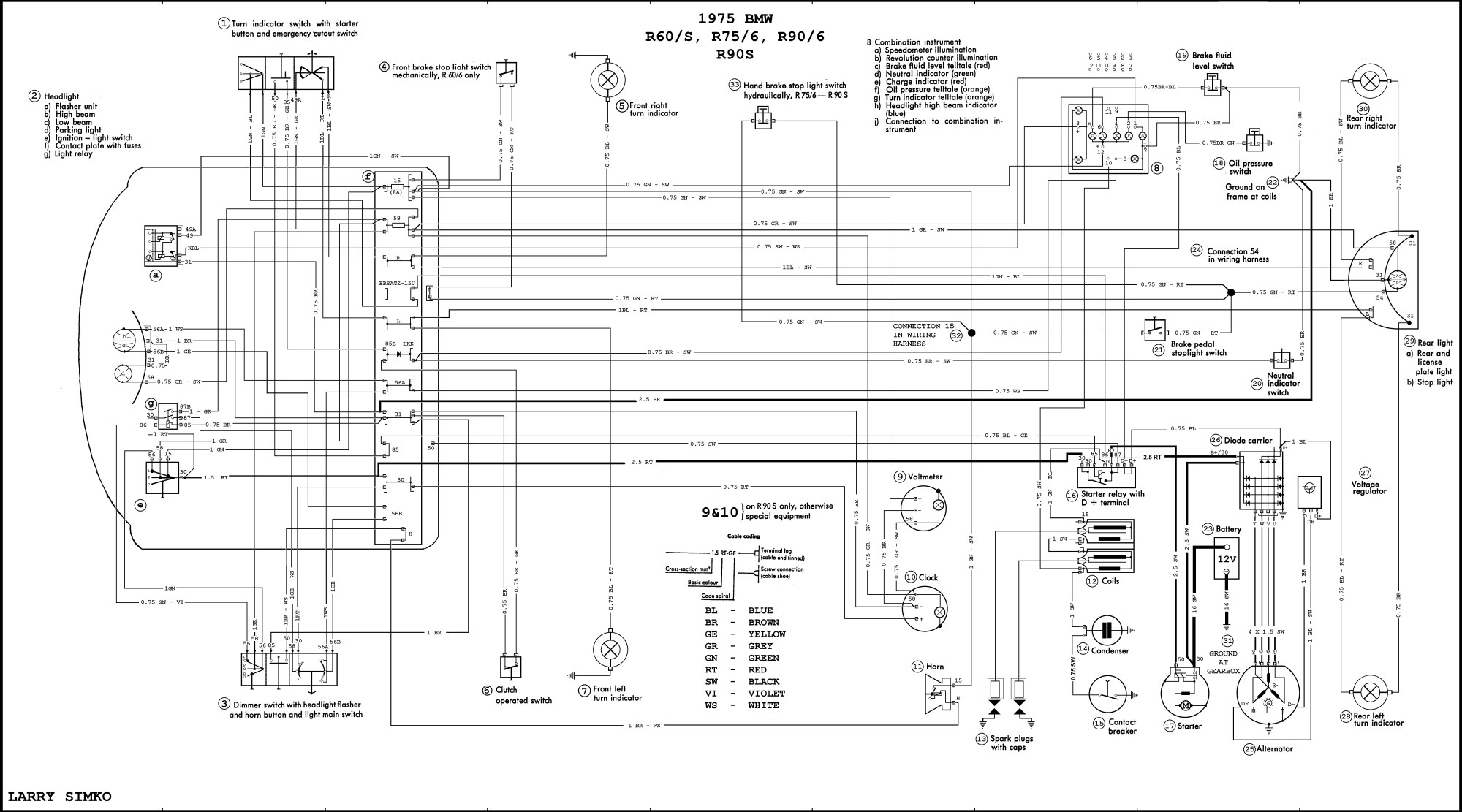 hight resolution of electrical schematic diagrams for bmw airhead motorcycles for 1975electrical schematic diagrams for bmw airhead motorcycles for
