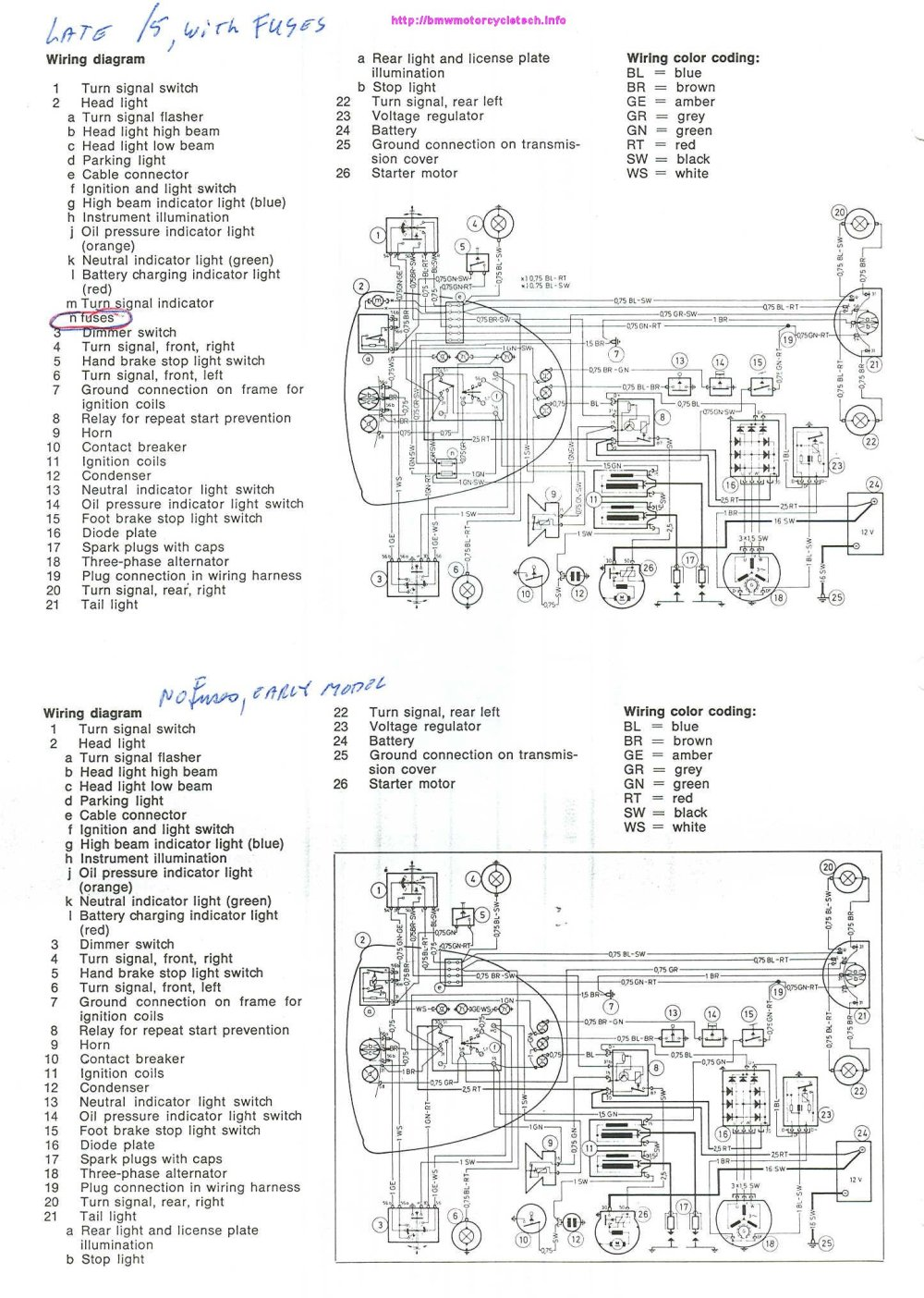 medium resolution of schematic diagrams for both early and late 5 early model had no fuses