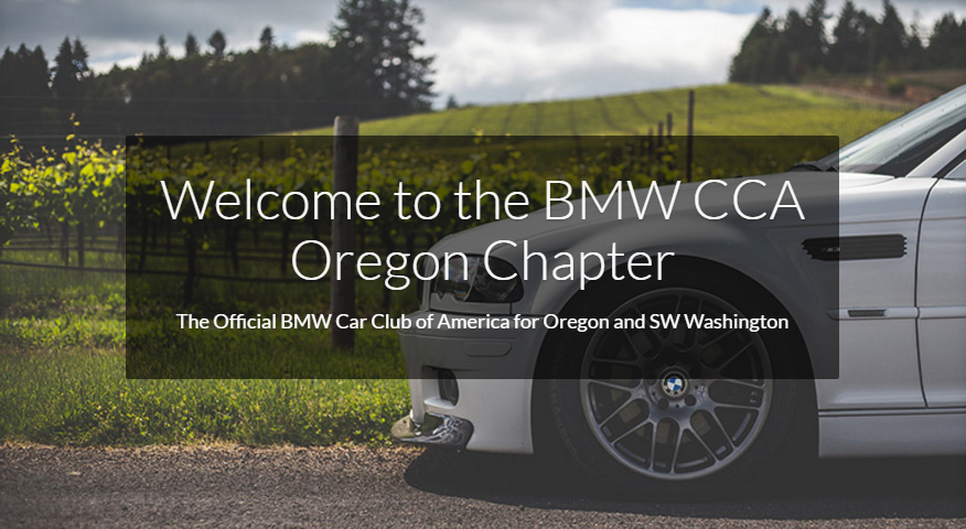 Welcome to the BMW CCA Oregon Chapter