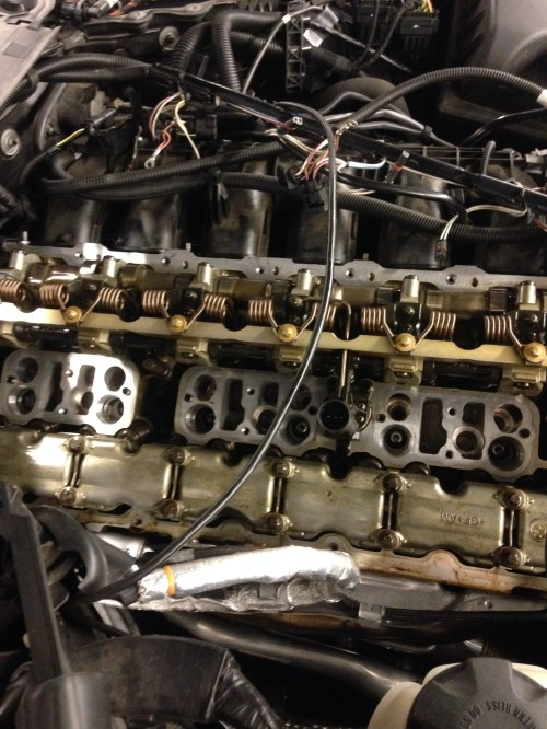 small resolution of here you can see all the injector and spark plug stands removed