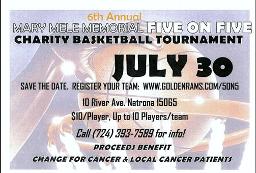 6th Annual Mary Mele Basketball FIVE ON FIVE Tournament