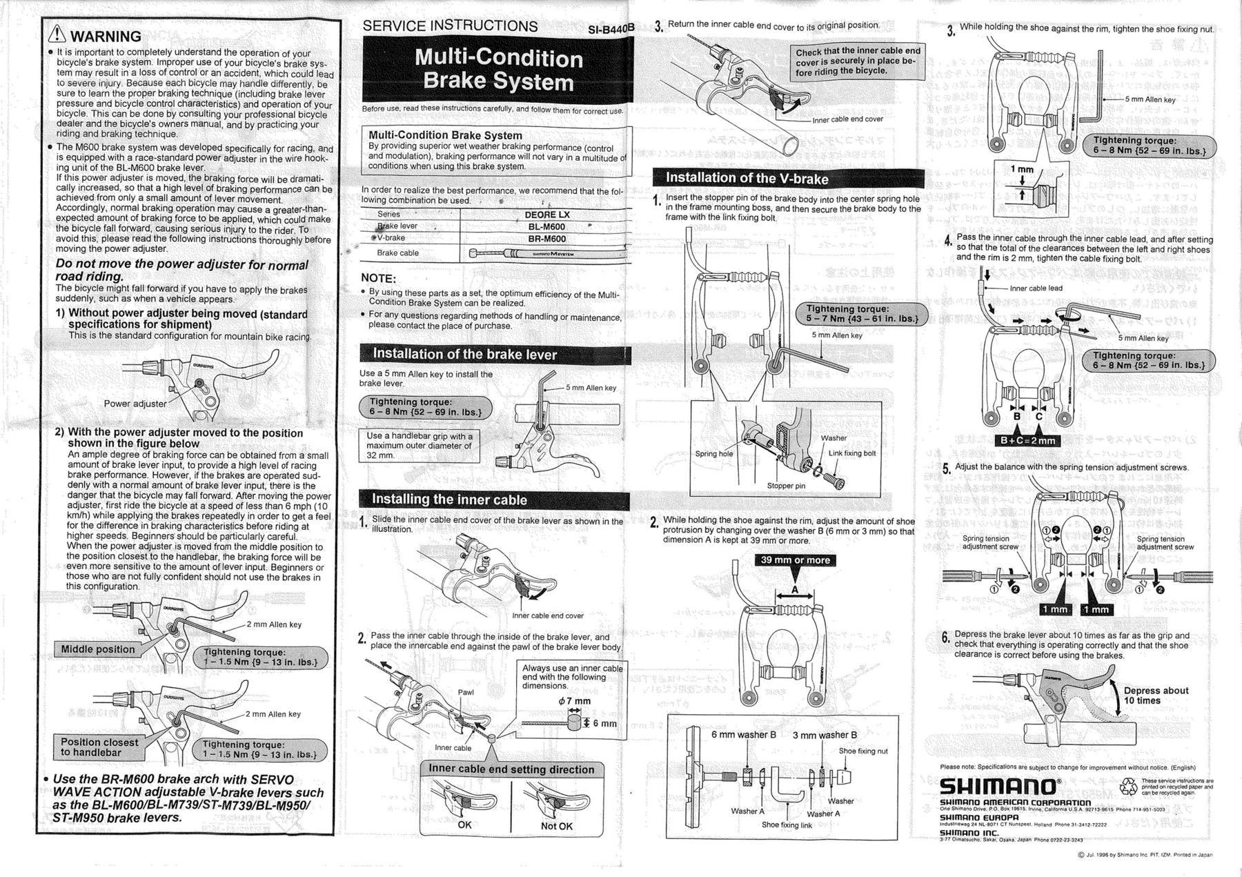 BMXmuseum.com Reference / Shimano BL-M600 Servo-Wave